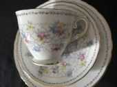 Tuscan China pink and chintz trio
